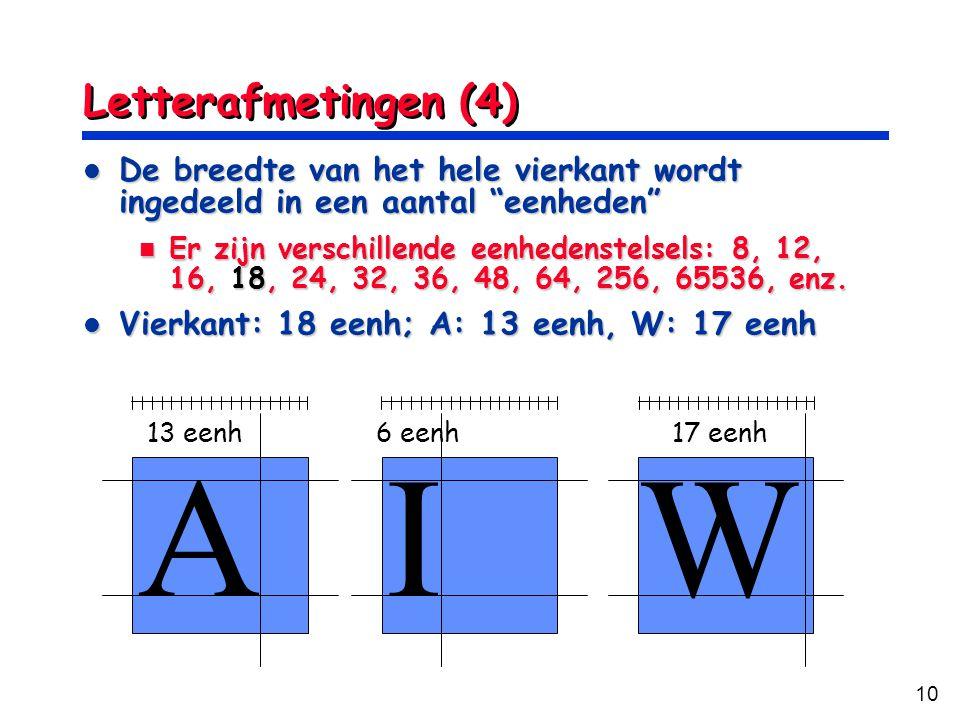A I W Letterafmetingen (4)