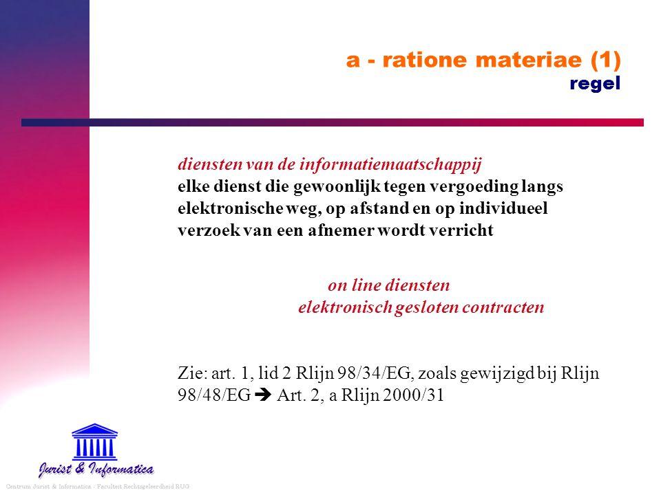 a - ratione materiae (1) regel