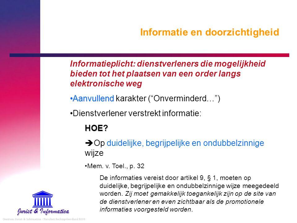 Informatie en doorzichtigheid