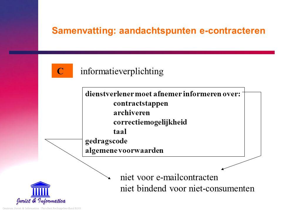 Samenvatting: aandachtspunten e-contracteren