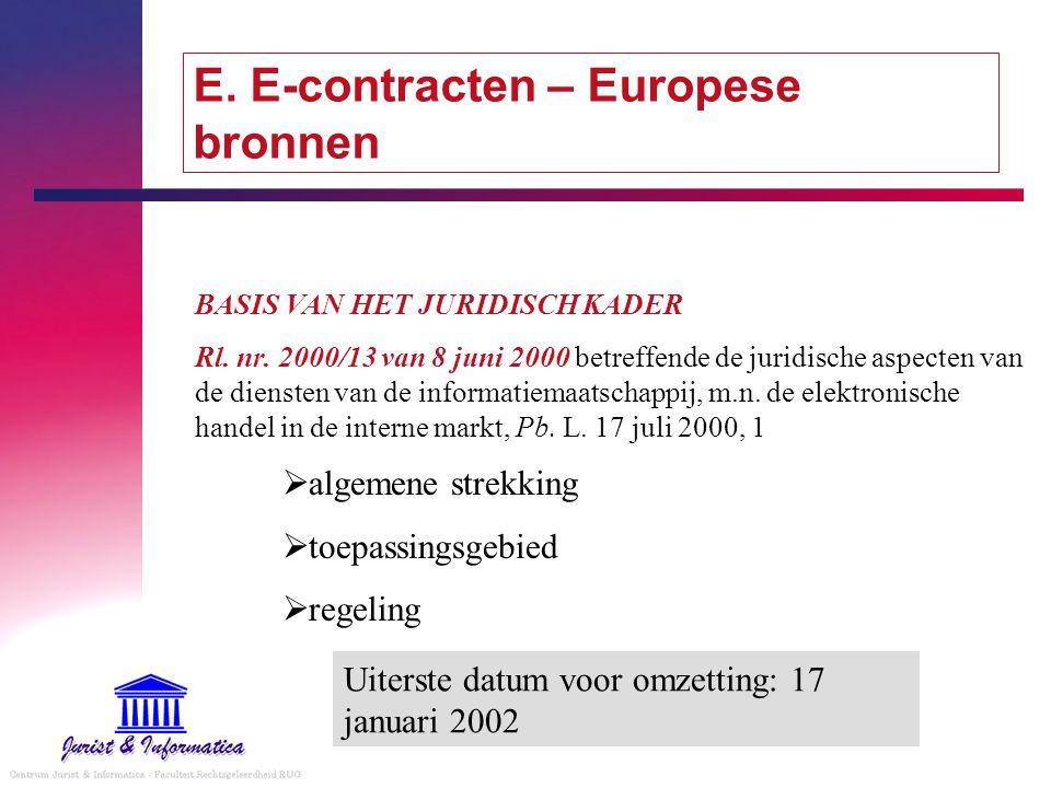 E. E-contracten – Europese bronnen