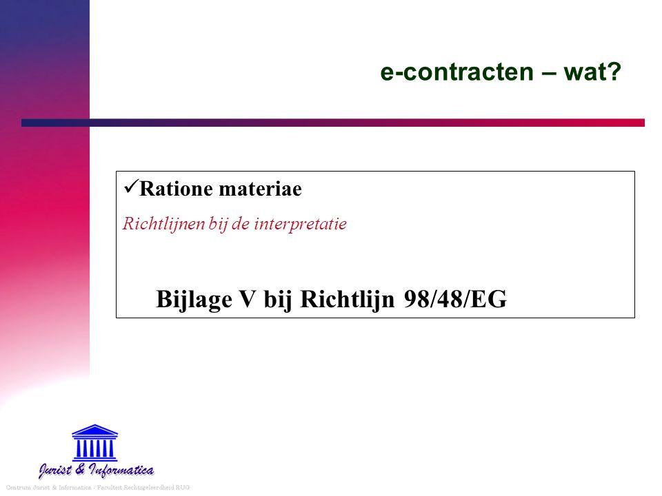 Bijlage V bij Richtlijn 98/48/EG
