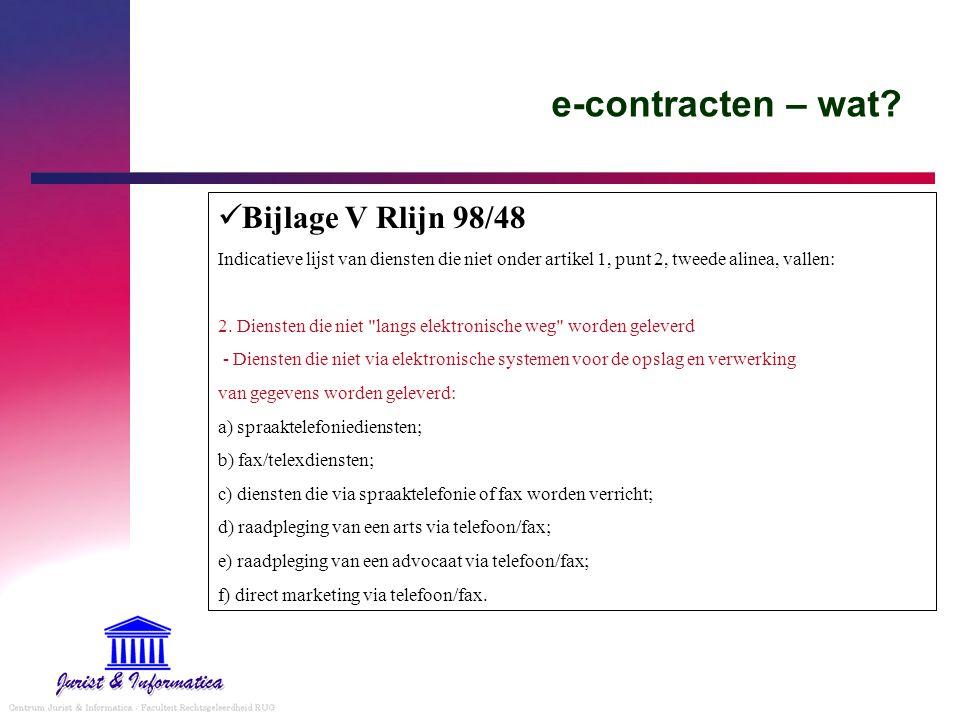 e-contracten – wat Bijlage V Rlijn 98/48