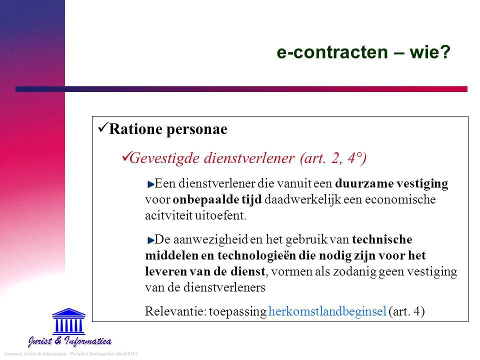 e-contracten – wie Ratione personae