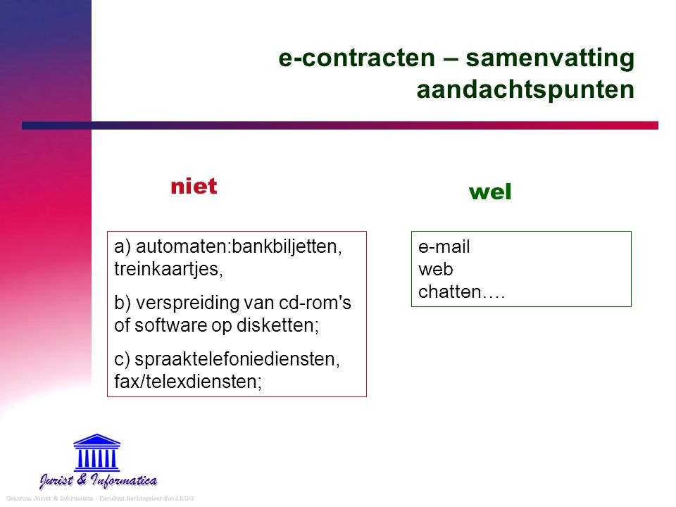 e-contracten – samenvatting aandachtspunten