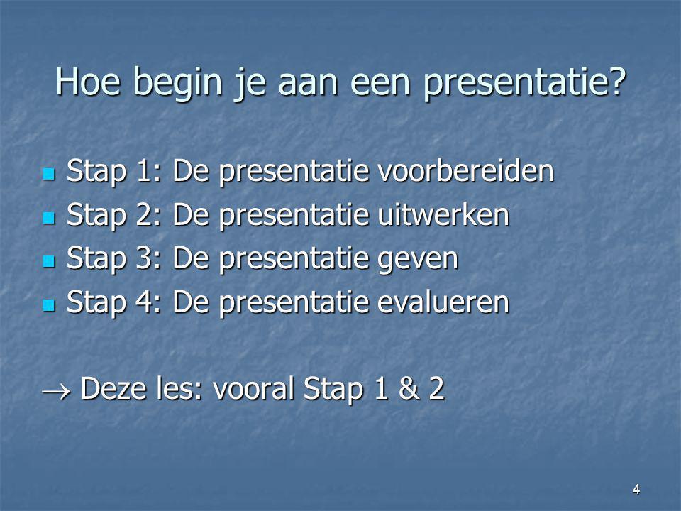 Hoe begin je aan een presentatie