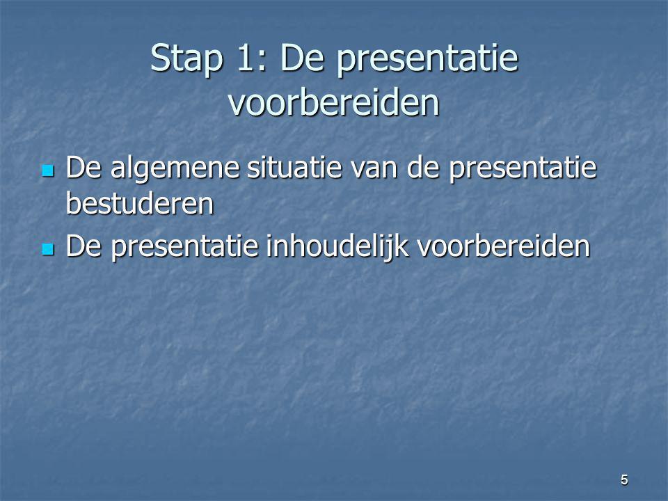 Stap 1: De presentatie voorbereiden