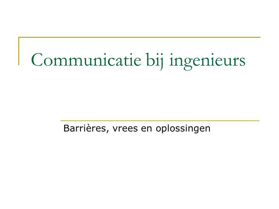 Communicatie bij ingenieurs