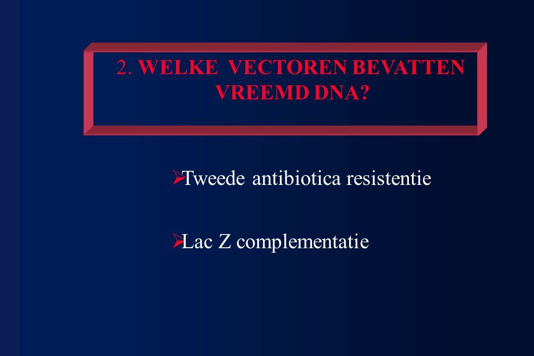 2. WELKE VECTOREN BEVATTEN