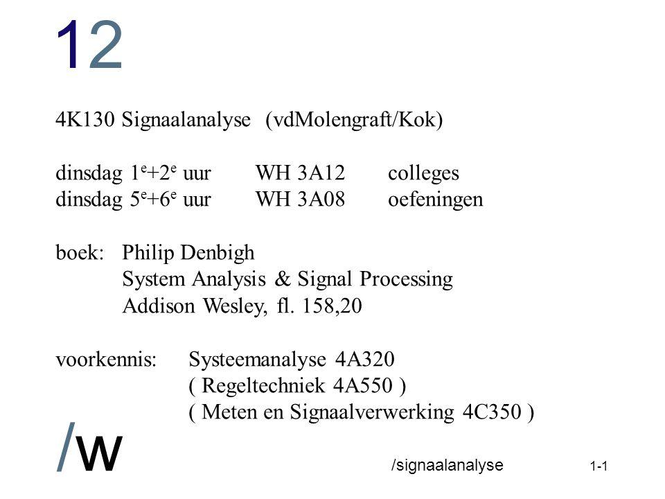 4K130 Signaalanalyse (vdMolengraft/Kok)