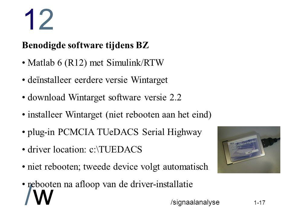 Benodigde software tijdens BZ