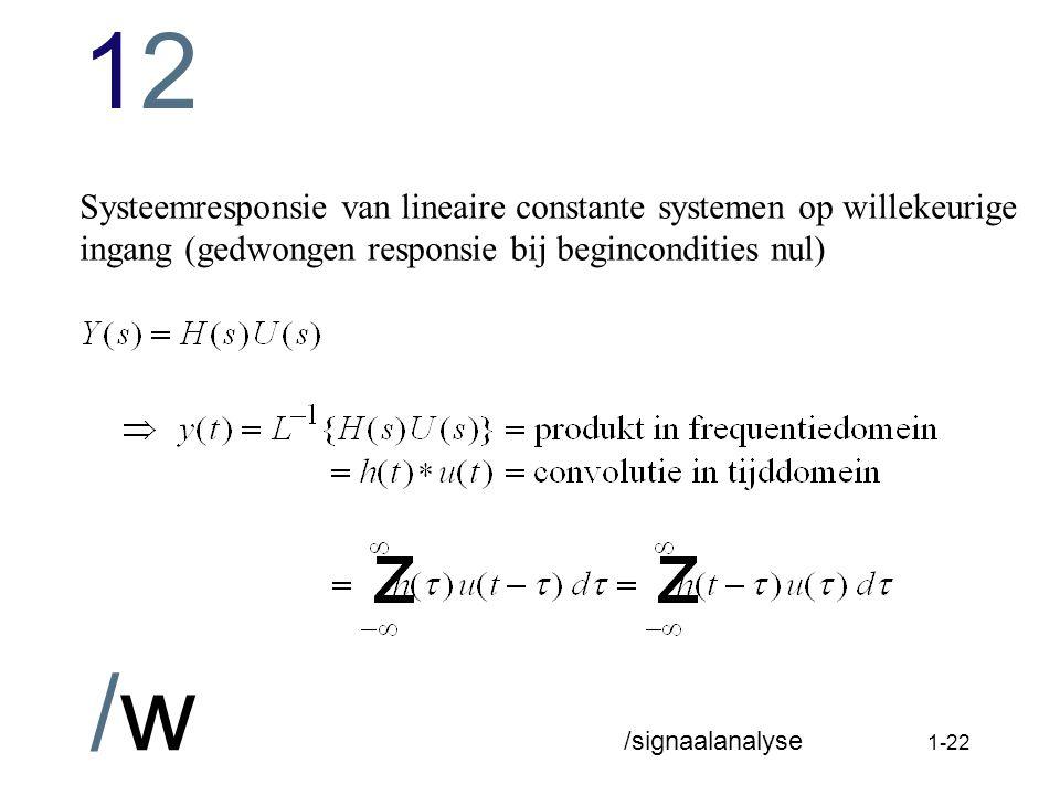 Systeemresponsie van lineaire constante systemen op willekeurige ingang (gedwongen responsie bij begincondities nul)