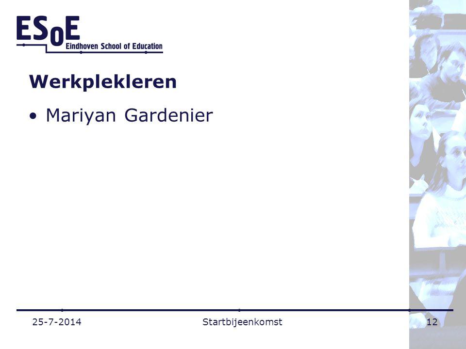 Werkplekleren Mariyan Gardenier 4-4-2017 Startbijeenkomst