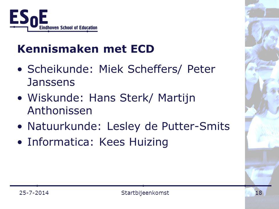 Scheikunde: Miek Scheffers/ Peter Janssens