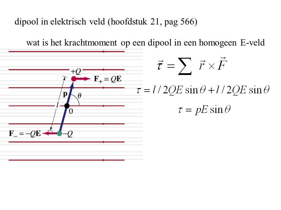 dipool in elektrisch veld (hoofdstuk 21, pag 566)
