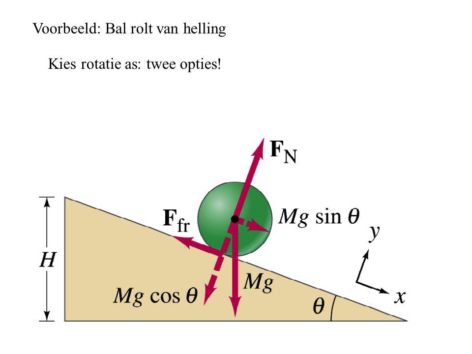 Voorbeeld: Bal rolt van helling