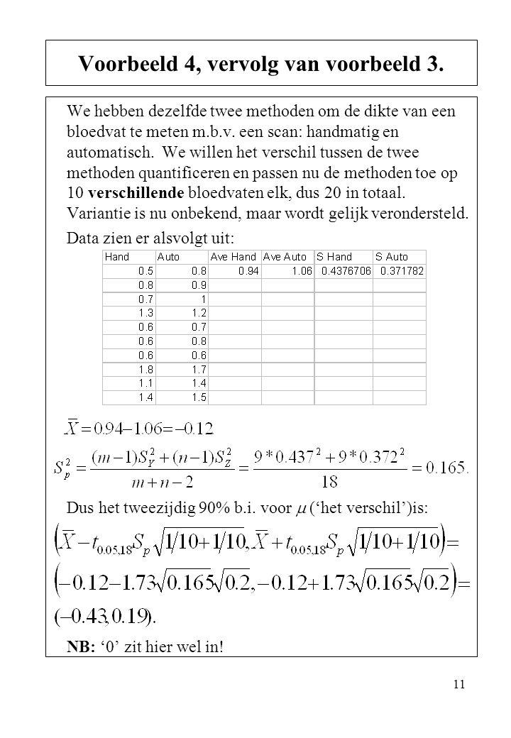 Voorbeeld 4, vervolg van voorbeeld 3.