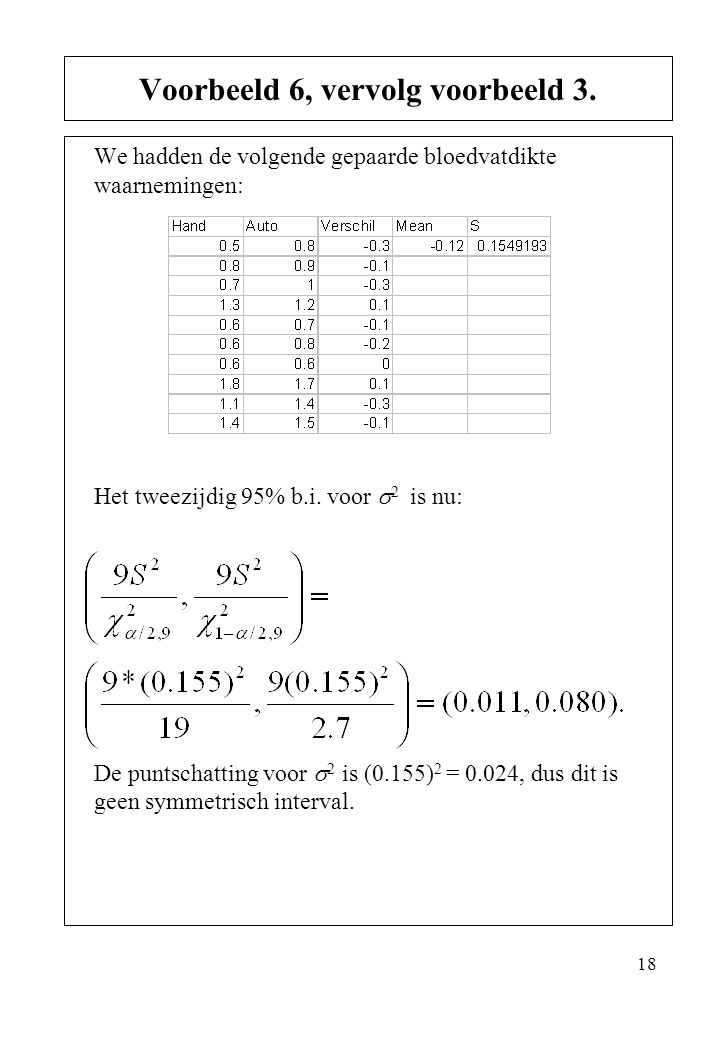 Voorbeeld 6, vervolg voorbeeld 3.