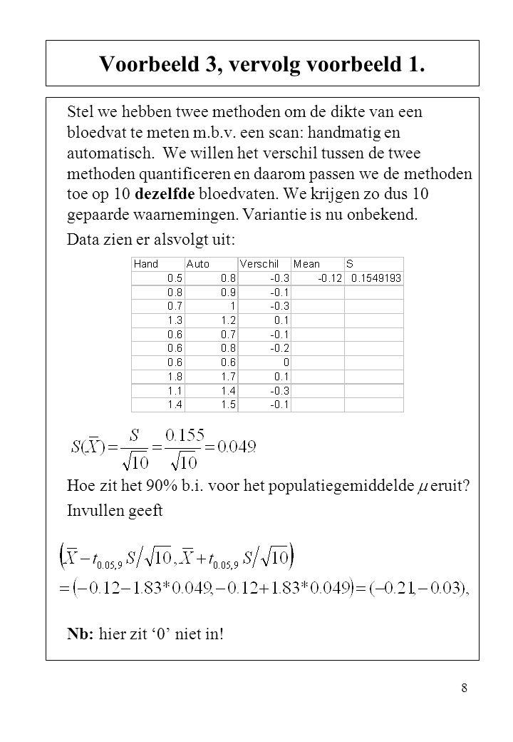 Voorbeeld 3, vervolg voorbeeld 1.