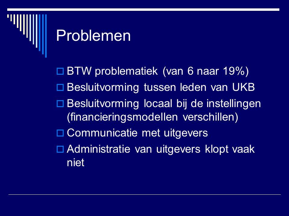 Problemen BTW problematiek (van 6 naar 19%)