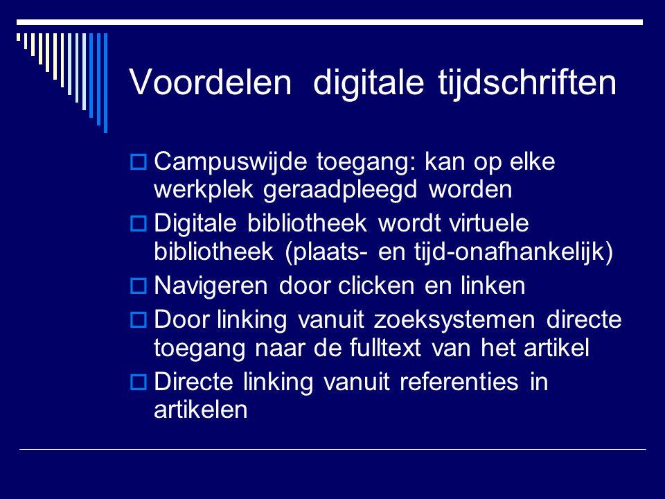 Voordelen digitale tijdschriften