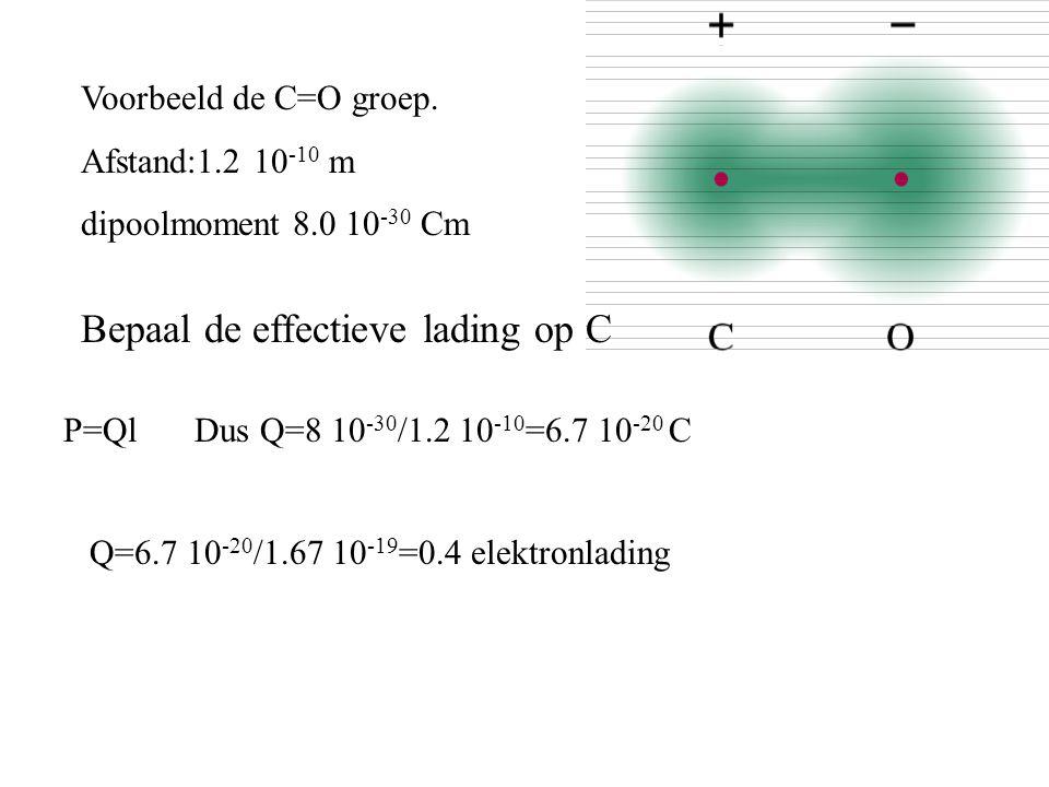Bepaal de effectieve lading op C