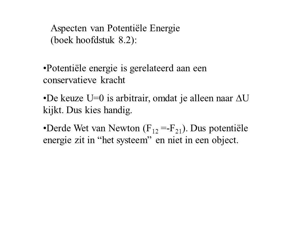 Aspecten van Potentiële Energie (boek hoofdstuk 8.2):