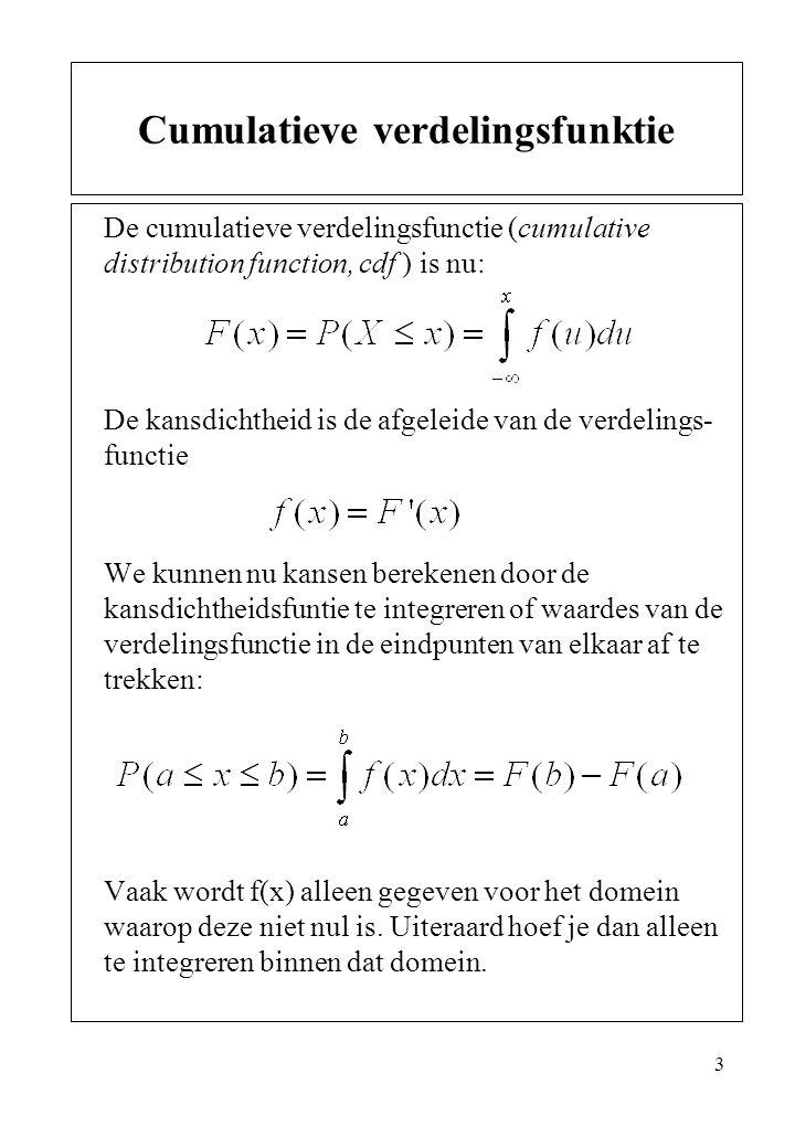 Cumulatieve verdelingsfunktie