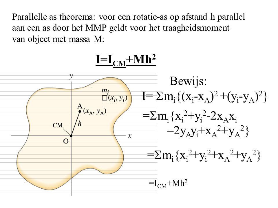 I= mi{(xi-xA)2 +(yi-yA)2}