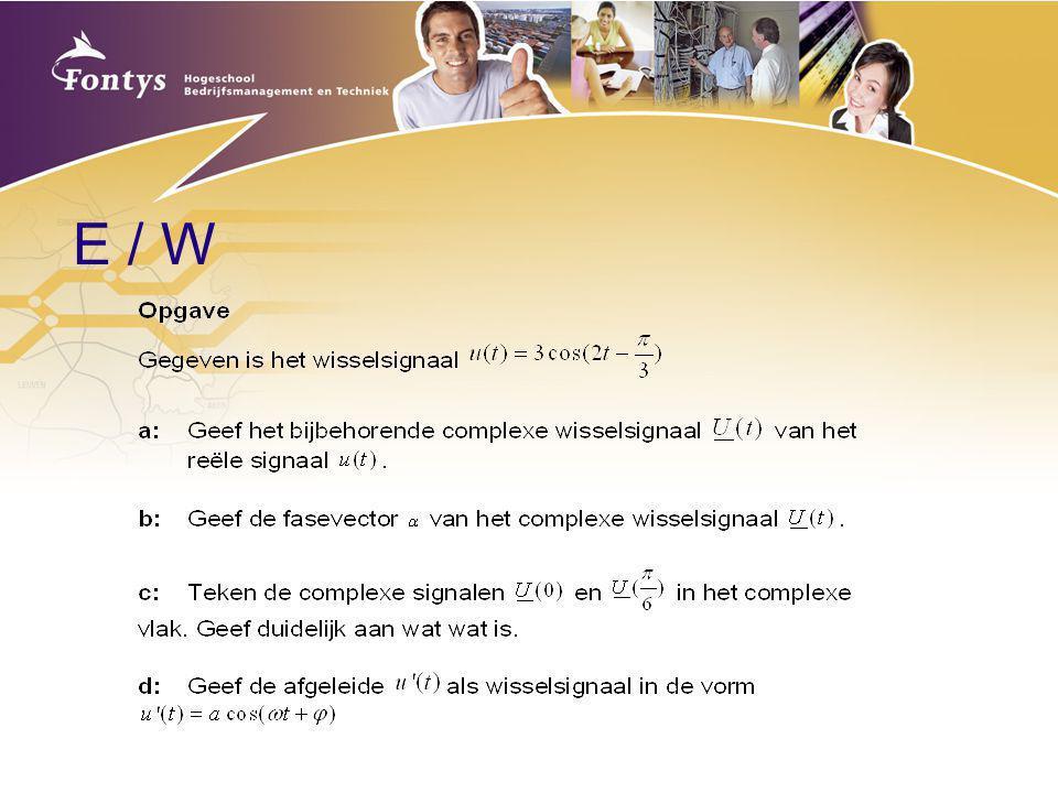 E / W