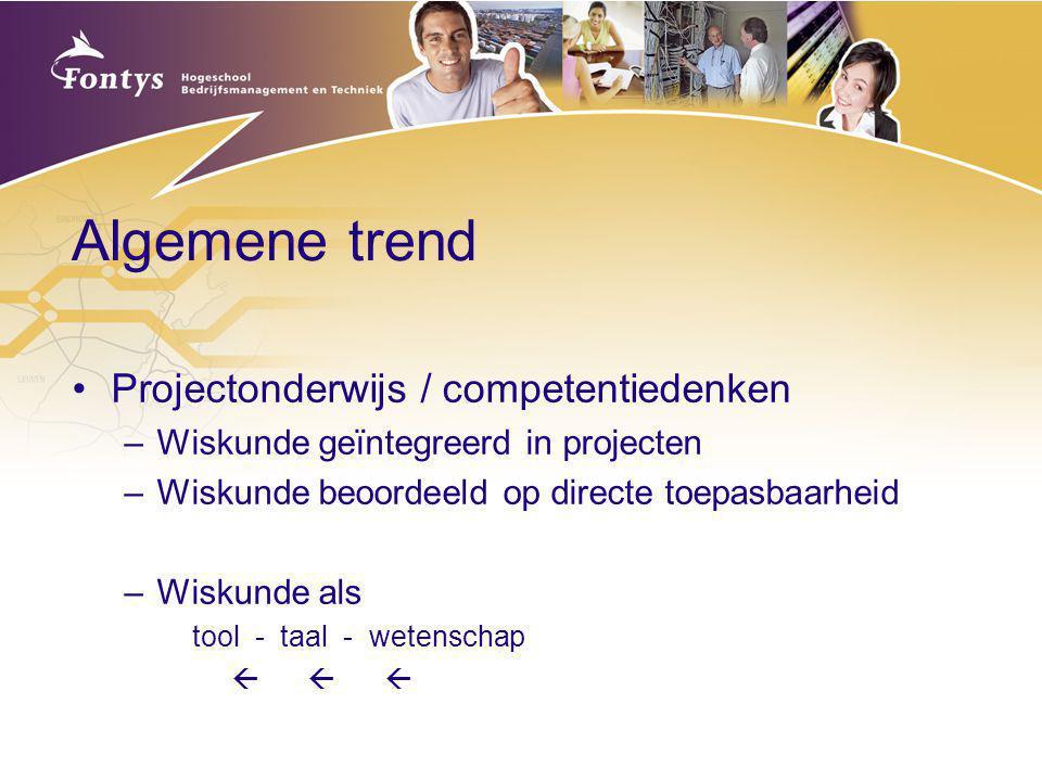 Algemene trend Projectonderwijs / competentiedenken
