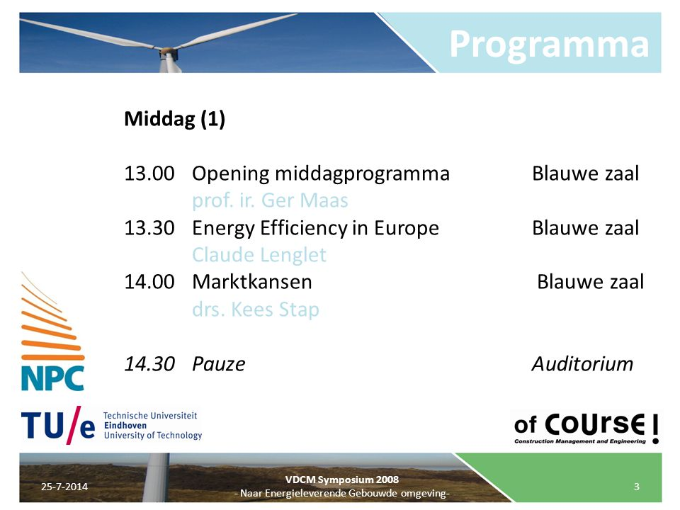 - Naar Energieleverende Gebouwde omgeving-