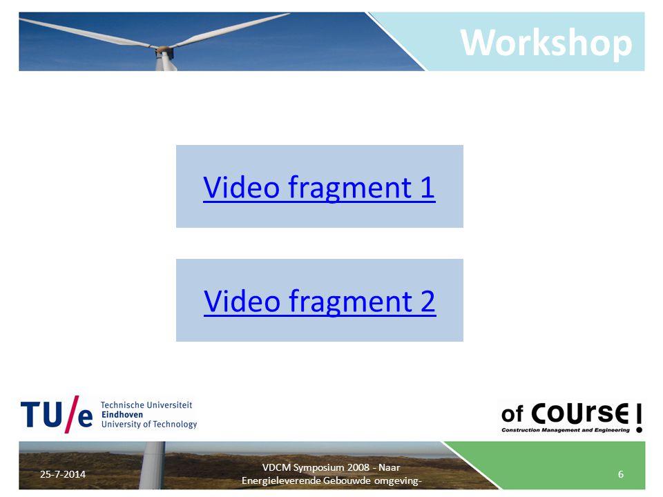 VDCM Symposium 2008 - Naar Energieleverende Gebouwde omgeving-