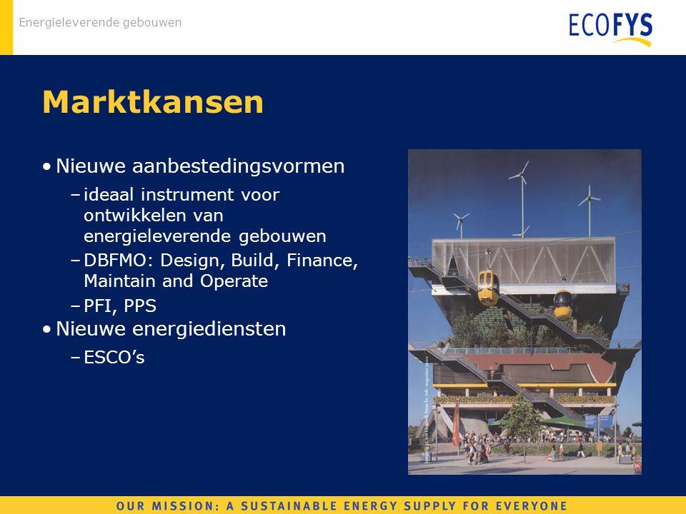 Marktkansen Nieuwe aanbestedingsvormen Nieuwe energiediensten