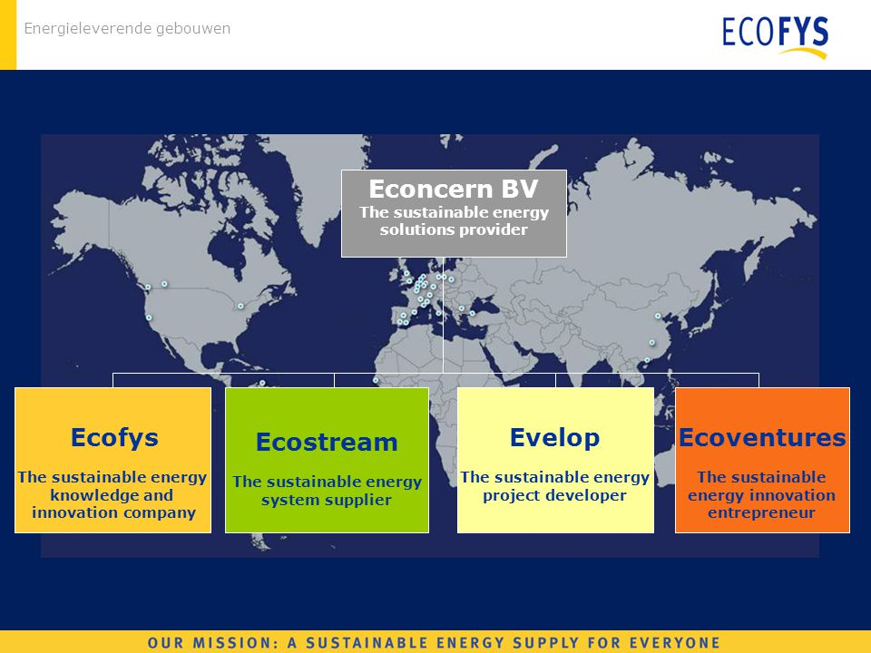 Econcern BV Evelop Ecostream Ecoventures Ecofys