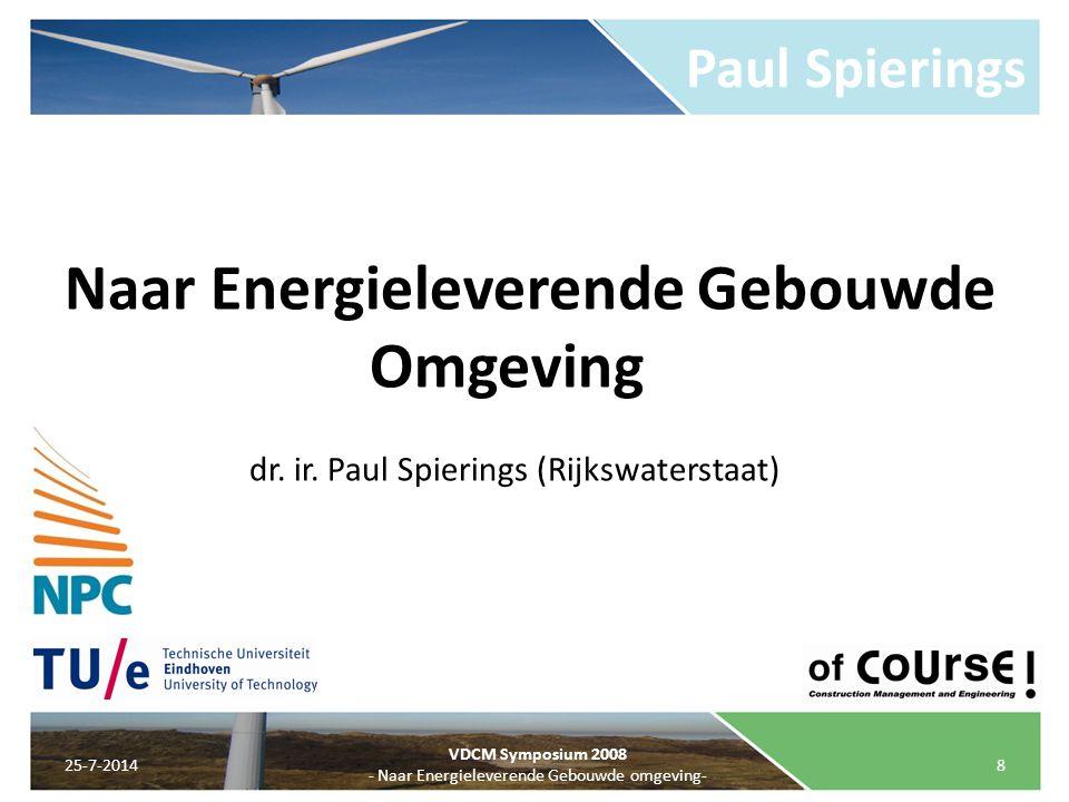 Naar Energieleverende Gebouwde Omgeving