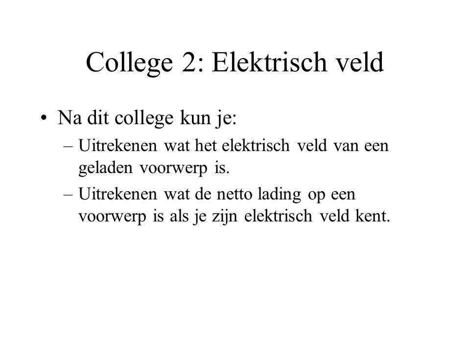 College 2: Elektrisch veld