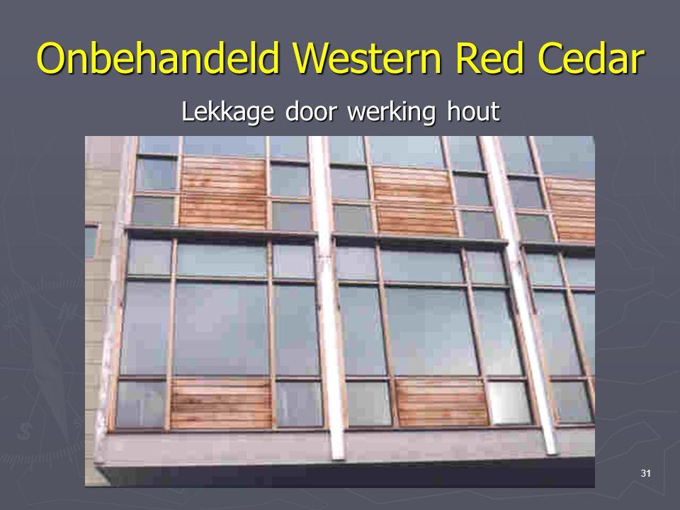 Onbehandeld Western Red Cedar