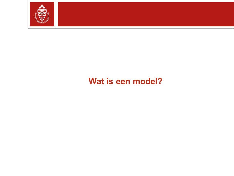 Wat is een model