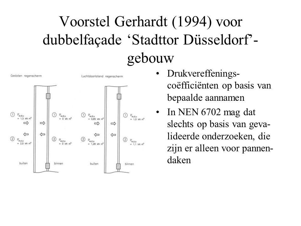 Voorstel Gerhardt (1994) voor dubbelfaçade 'Stadttor Düsseldorf'-gebouw