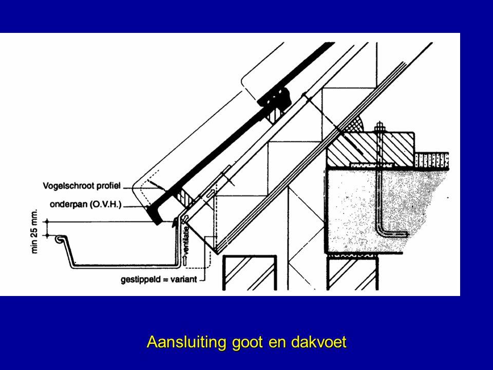 Aansluiting goot en dakvoet