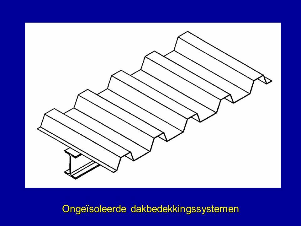 Ongeïsoleerde dakbedekkingssystemen
