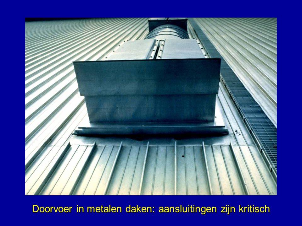 Doorvoer in metalen daken: aansluitingen zijn kritisch