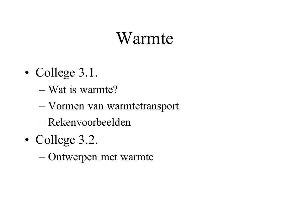 Warmte College 3.1. College 3.2. Wat is warmte