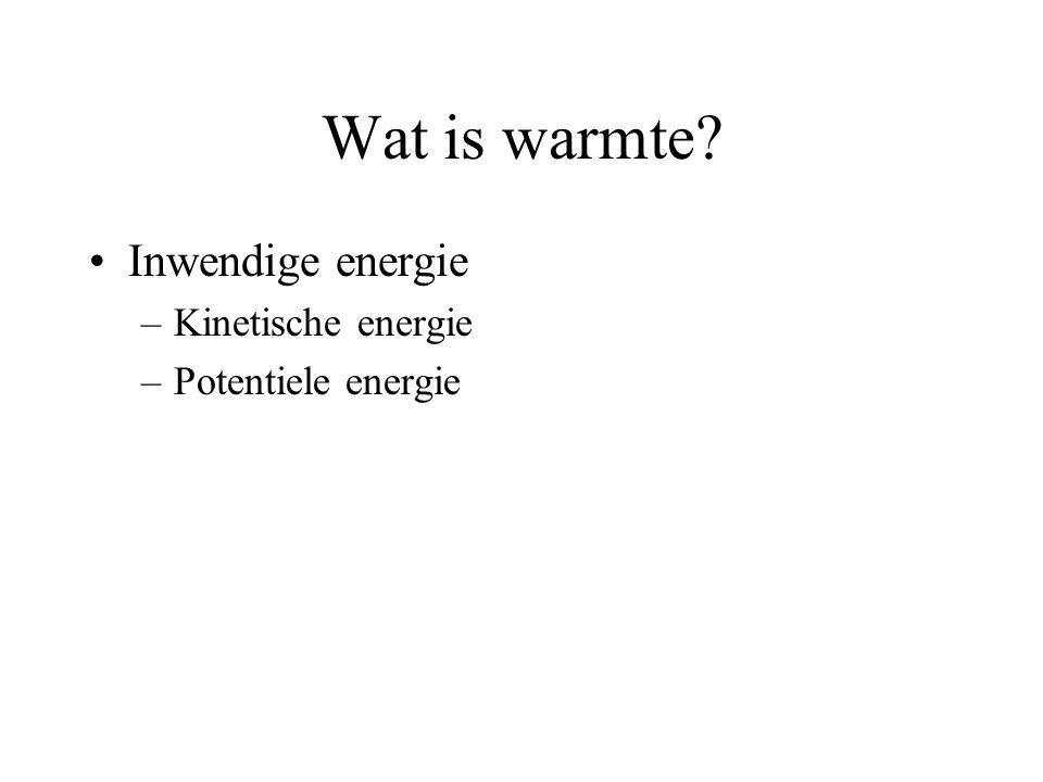 Wat is warmte Inwendige energie Kinetische energie Potentiele energie