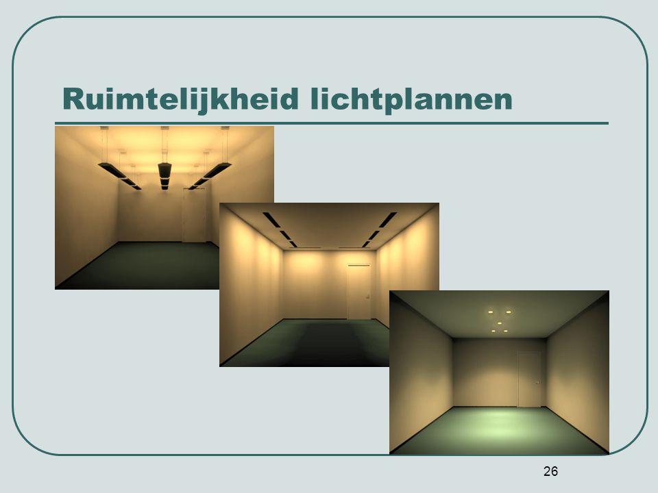 Ruimtelijkheid lichtplannen
