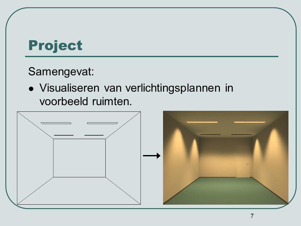 Project Samengevat: Visualiseren van verlichtingsplannen in voorbeeld ruimten.