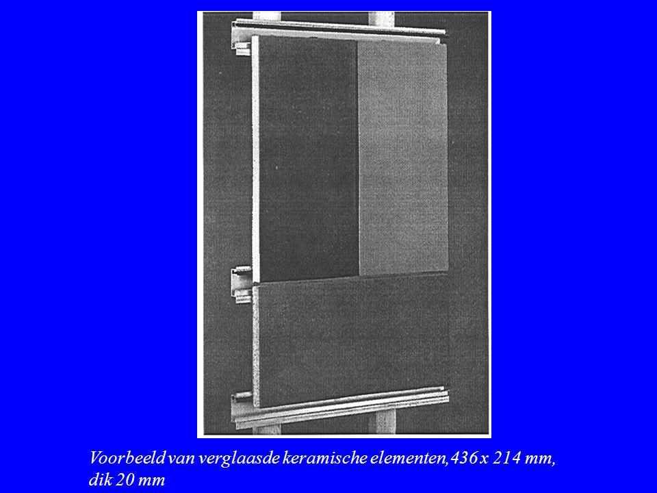 Voorbeeld van verglaasde keramische elementen,436 x 214 mm, dik 20 mm
