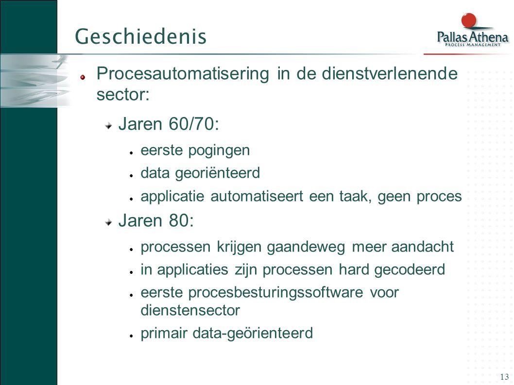 Geschiedenis Procesautomatisering in de dienstverlenende sector: