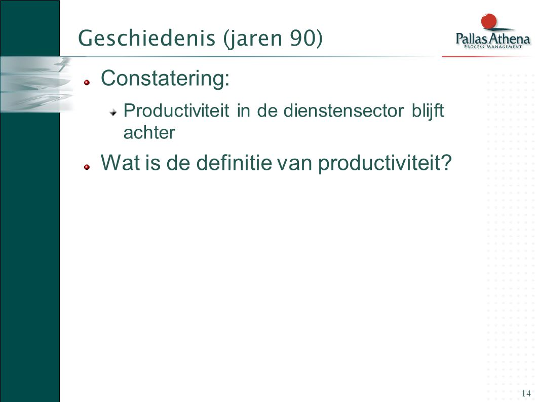 Wat is de definitie van productiviteit